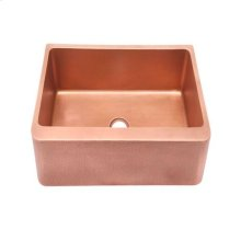 "Barroca Single Bowl Copper Farmer Sink - 25"""