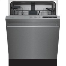 "24"" Standard height dishwasher 5 cycle top control stainless 48 dBA"