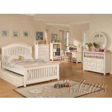 Cream / Peach Full Size Bedroom Set