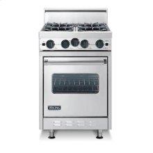 "Almond 24"" Open Burner Range - VGIC (24"" wide range with four burners, single oven)"