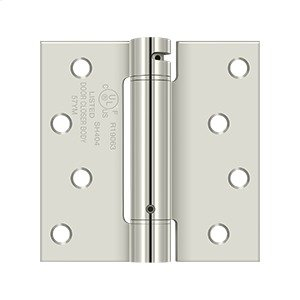 "4""x 4"" Spring Hinge, UL Listed - Polished Nickel Product Image"