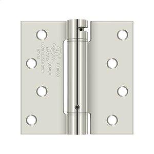 "4""x 4"" Spring Hinge, UL Listed - Polished Nickel Product Image"