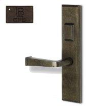 Left Hand Reverse Mortise Escutcheon Entry - Copper Bronze
