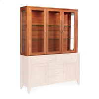 """Justine Closed Hutch Top, 61""""w, Antique Glass Product Image"""