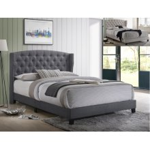 Rosemary King Platform Bed Khaki
