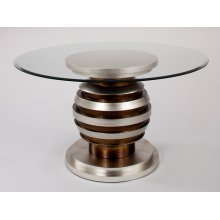 """Dining Table Base with Glass 54x54x30.5"""""""