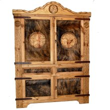 Cowhide Texas Rope Armoire