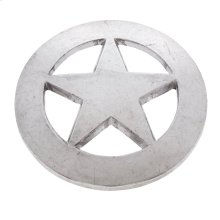 "Satin Nickel 2-1/2"" Large Star Knob"