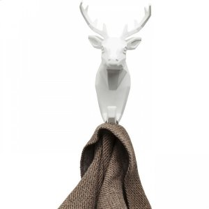 Wall Hook Deer White Product Image