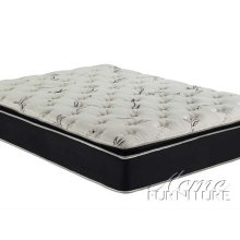 Cicely Black Suede Queen Size Pillow Top Mattress Set