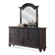 Bellagio Eight Drawer Dresser Weathered Worn Black finish