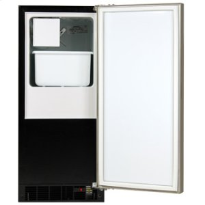 "Marvel 15"" Crescent Ice Machine - Solid Panel Overlay Ready Door - Right Hinge - CLEARANCE ITEM"