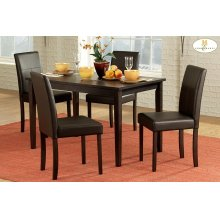 5PC SET (Table with 4 Side Chairs)