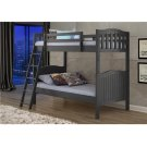 Pine Ridge Grey Distressed Bunk Bed with options: Grey, Twin over Twin Product Image