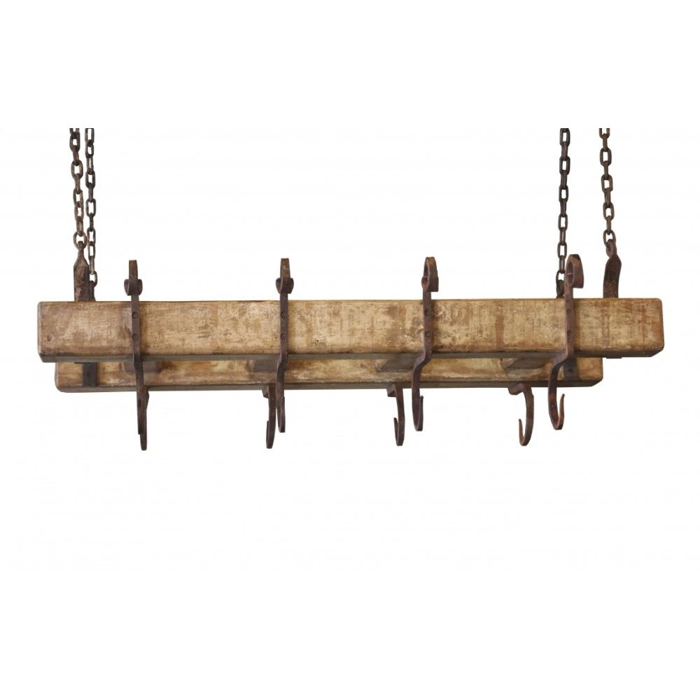 Factory 4 Pot Rack with Hooks