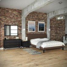 Bethany 4 Piece Queen Bedroom Set in Black Brown