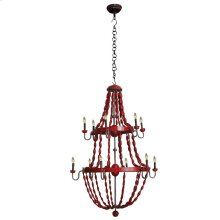 2 Tier Beaded Chandelier