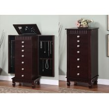 "Contemporary ""Merlot"" Jewelry Armoire"