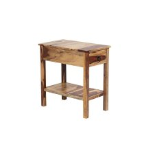Sheesham Accents Chairside End Table, PDU-08