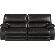 Power Headrest w/Lumbar Lay Flat Reclining Console Loveseat