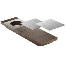 Presentation board 210071 - Walnut Stainless steel sink accessory , Walnut