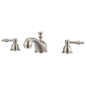 Marsala Widespread Lavatory Faucet with Metal Lever Handles - Brushed Nickel Product Image