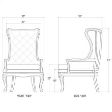 Brittany Wing Chair w/ Tufted Cushion - FOR LN116 LDT