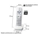 KX-TGDA59W Handsets Product Image