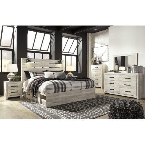 Cambeck - Whitewash 4 Piece Bed Set (King)