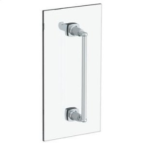 """H-line 6"""" Shower Door Pull With Knob/ Glass Mount Towel Bar With Hook Product Image"""