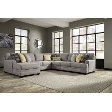 Cresson - Pewter Left Chaise, Armless Loveseat, Armless Chair, Right Loveseat, Wedge
