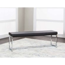 Olympia-blk/chrome Bench 1pk