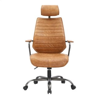 Executive Swivel Office Chair Cognac
