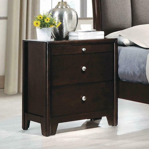 Madison Dark Merlot Nightstand