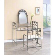 Transitional Nickel Bronze Vanity Set