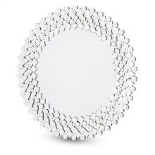 Round Facet Silver Mirror 8017