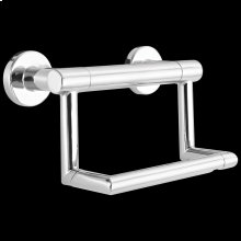 Chrome Contemporary Tissue Holder with Assist Bar