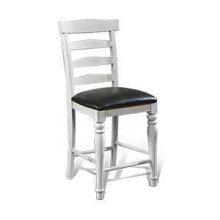 "24""H Bourbon County Ladderback Barstool w/ Cushion Seat"