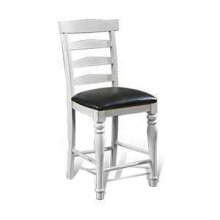"24""H Bourbon County Ladderback Barstool w/ Cushion Seat"