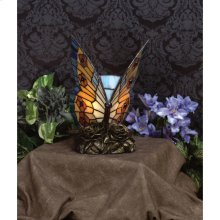 Orange Butterfly Accent Lamp in Architectural Bronze