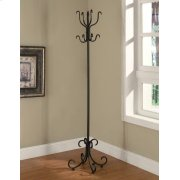 Traditional Black Coat Rack Product Image
