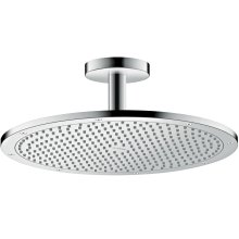 Chrome Overhead shower 350 1jet with ceiling connection