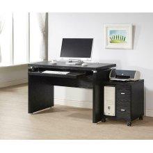 Contemporary Black Oak Computer Desk