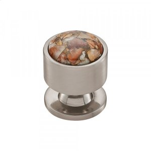 Firesky Mohave Yellow Knob 1 1/8 Inch Brushed Satin Nickel Product Image
