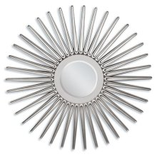 "SILVER ACCENT MIRROR, 45""D"