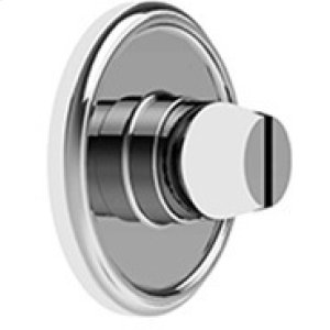 Satin Chrome Bathroom coin release, concealed fix
