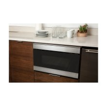 24 in. 1.2 cu. ft. 950W Sharp Stainless Steel IoT Easy Wave Open Microwave Drawer Oven