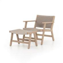 Chair + Ottoman Configuration Brown Cover Delano Chair + Ottoman