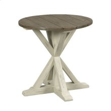 Reclamation Place Trestle Round End Table