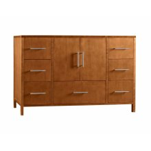 "Juno 48"" Bathroom Vanity Cabinet Base in Cinnamon"